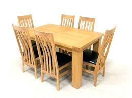 extending black glass dining table and 6 chairs set solid oak extending dining table and 6