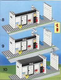 Lego House Plans Lego Service Station Instructions 6378 City