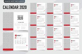 Planner 2020 Template Calendar 2020 Template Planner Vector New Year Calendar In