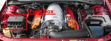 fuse box diagram > dodge magnum 2005 2008 the location of the fuses in the engine compartment dodge magnum 2005 2008
