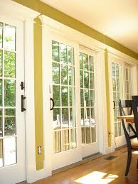 these are the anderson 400 series sliding patio doors with custom trim casing we replaced