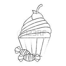 Disegno Muffin Vettoriali Illustrazioni E Clipart
