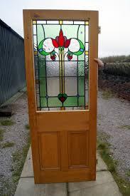great leaded glass stripped pine internal door c 1920 la79333 loveantiques com