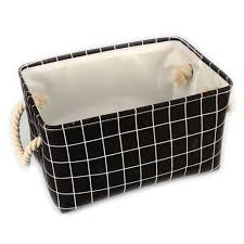 decorative office storage. Storage Shelf Baskets Bins Decorative Collapsible Box Stripe Cube Bin With Handles Office