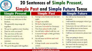 20 Sentences Of Simple Present Simple Past And Simple