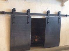 barn door style steel plate fireplace more