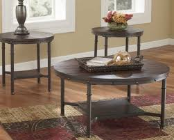 ashley furniture rafferty round cocktail table in dark brown local