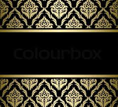 Gold Pattern Cool Black Bright Card With Gold Pattern Vector Stock Vector Colourbox