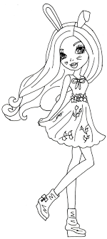 Harelow Ever After High Coloring Page Jpg 714 1600 2 Color