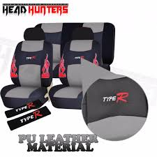 head hunters type r universal fit pu leather car seat cover set