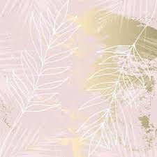 Tropical Worn Floral Pastel Rose Gold ...