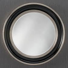 contemporary round wall mirror black