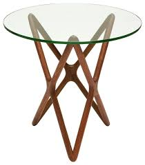 centauri modern classic glass top wood mid century base side table modern side tables and end tables by kathy kuo home