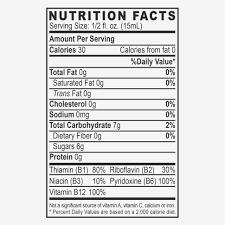 vital 15u liquid energy ginseng energy drink 5 hour energy nutrition label