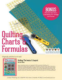 Quilting Charts Formulas Free Eguide Download Quilt