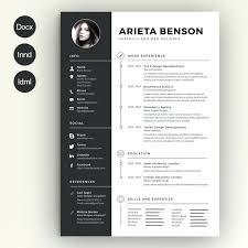 Premium Resume Templates Adorable Template Free Download Resume Vita Professional Indesign Cv