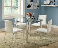 kona i glass top table and chairs in black or white