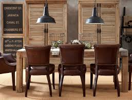 industrial style dining room lighting. 4 masculine dining room leather chairs adele industrial style lightingindustrial lighting e