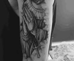 Side Tattoos Guys Designs 75 Hand Praying Tattoo Designs For Men Improb