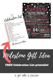 Creative Gift Idea With A Free Printable Milestone Celebration List