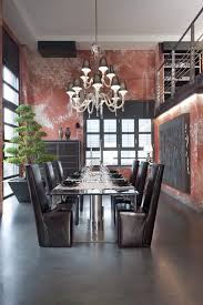 milan pictures of italy dining room industrial with moile nero fabric shade chandelier