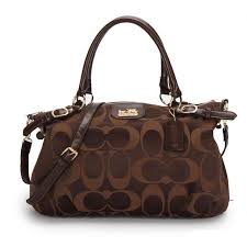 Coach Madison Kelsey In Signature Medium Coffee Satchels ATJ