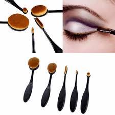 kosmetická péče sada oválných štětců na make up 5 ks