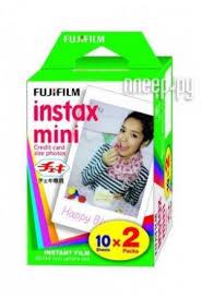 Купить <b>Fujifilm Glossy 10/2PK для</b> Instax mini 8/7S/25/50S/90 ...