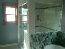 Bathrooms Woth Corner Windows Bathroom  Spectacular White Guest - Decorative glass windows for bathrooms