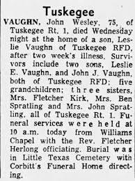 John Wesley Vaughn dies Jun 1956 - Newspapers.com