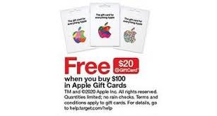 From personalized offers to grocery products, there is a big sale on almost everything at target. Free 20 Target Gift Card With 100 Purchase Of Apple Gift Cards Target