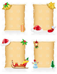Blank Christmas List Vintage Blank Christmas Scroll With Holiday Symbols Stock Vector Image