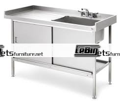Metal Kitchen Sink Base Cabinet/stainless Steel Kitchen Sink Cabinet/single  Bowl Stainless Steel