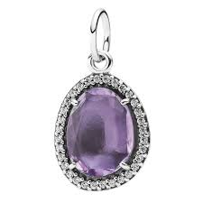pandora glamorous legacy amethyst pendant pandora necklace chain pandora s genuine