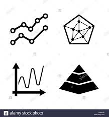 Diagram Graphs Chart Simple Related Vector Icons Set For
