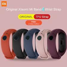 ORIGINAL XIAOMI <b>Mi Band 5</b>/4 <b>Wrist Strap</b> Color TPU Material ...