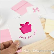 2019 New Versi Greeting Cards Paper Small Cards Creativity Individuality Simplicity Birthday Thank You Cards Messages Holiday Wishes Cards