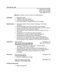 New Graduate Nursing Resume Template Resumes Sample Nurse
