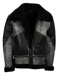 black and grey fur leather jacket with stylish look motorcycle leather jacket for men