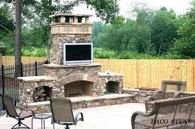 outside brick fireplace backyard fireplace prefab outdoor fireplaces prefab outdoor fireplace s backyard brick fireplace plans