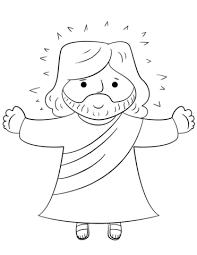 Jesus Coloring Pages Printable Cartoon Jesus Coloring Page Free