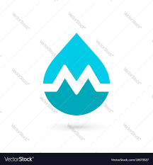 Water Drops Template Letter M Water Drop Logo Icon Design Template Vector Image
