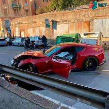 Italy star Federico Marchetti left fuming after £300k Ferrari 812 Superfast  smashed up by car wash worker while training
