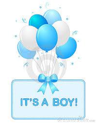 Baby Boy Announcement Clipart