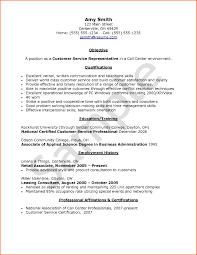 Resume Examples For Call Center Customer Service Examples Of Resumes