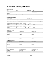 Personal Credit Application Forms Business 103812600037 Business