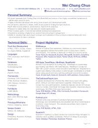 Front End Developer Resume Adorable Wei Chung Chuo Front End Developer Resume