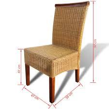 Esszimmerstühle 2 Stk Rattan Braun