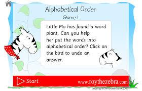Alphabetical Order Alphabetical Order Game