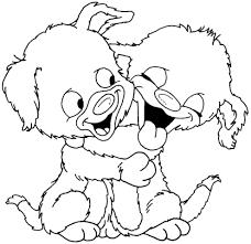 Disegno Di Teneri Cuccioli Da Colorare Per Bambini Con Disegni Di